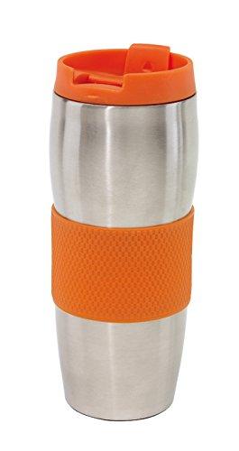 Unbekannt Gobelet Isotherme to Go AU Lait Coffee to go au Choix 380 ML, Plastique, Orange, 380 ML