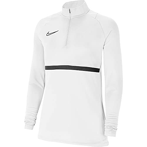 NIKE DRI-FIT Academy Camiseta, Mujer, White/Black/Black/Black, s