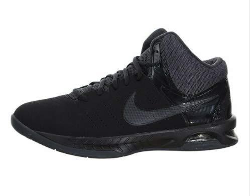 Nike Mens Air Visi Pro Vi Nbk Black/Anthracite Ankle-High Nubuck Basketball Shoe - 9M