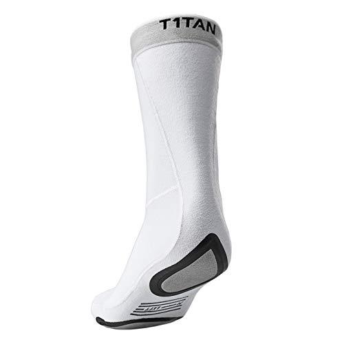 T1TAN Speedgrip Socken Herren Fußball weiß - Allround Classic Socks mit extra Grip an Fußballen und Ferse – Größe S (39-43)