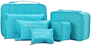 Travel Storage Bags Multi-functional Clothing Sorting Packages,Travel Packing Pouches, Luggage Organizer 6 Pcs