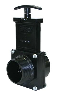 "Valterra 7208 ABS Gate Valve, Black, 2"" FPT x MPT by Valterra Products"