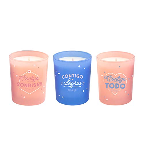 Mr. Wonderful Set de 3 Velas para Parejas con Chispa para Rato