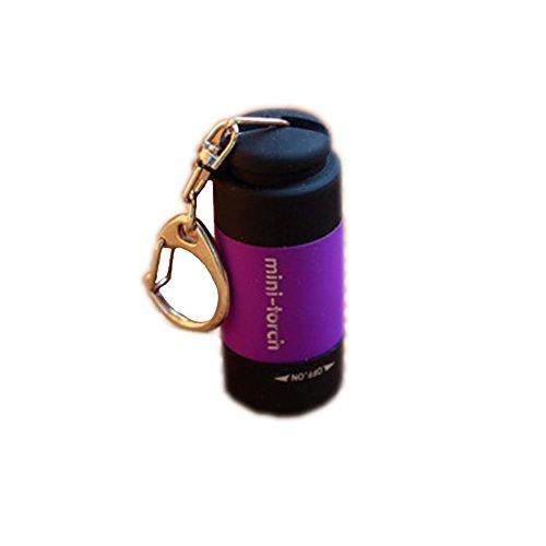 Violet USB Mini-torch rechargeables LED Lampe de poche extérieur Petite lampe de poche