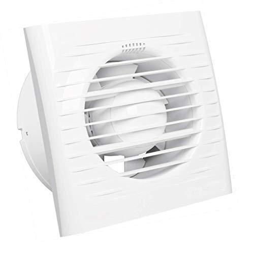 Bricoloco Extractor de baño o cocina Optima 15x15 cm 14 W tipo 100 mm. Renovador de aire de baños. Elimina condensación de vapor y renueva el aire|Capacidad extracción 97 m3/h 35 db
