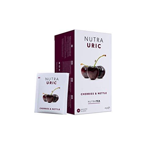 NutraUric - Unterstützung gegen Harnsäure - Enthält natürliche Kirsche & Nessel – 40 Verpackte Teebeutel - von Nutra Tea – Kräutertee – (2 Packung)