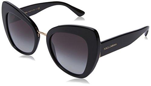 Dolce & Gabbana Damen 0DG4319 501/8G 51 Sonnenbrille, Schwarz (Black/Gradient)