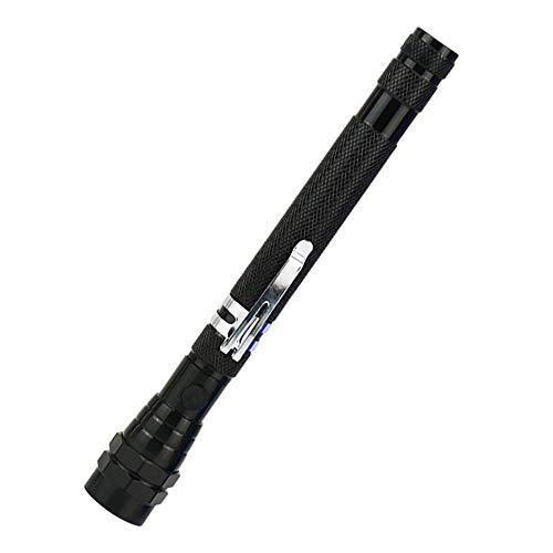 ZTKGB Draagbare zaklamp, zacht hoofd met magneet, telescoop, 3 leds, multifunctioneel, waterdicht gereedschapslicht