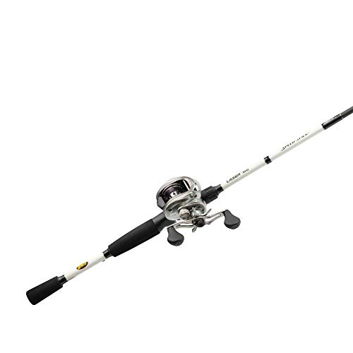Lews Fishing LSG1HMG70MH Laser MG Baitcast Combo, 7', 7+1 Bearings, 6.4: 1 Gear Ratio, Medium/Heavy Power