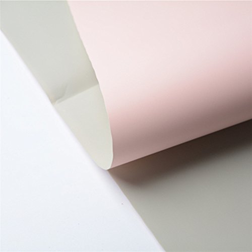 Double Color Flower Wrapping Paper Waterproof Gift Packaging Florist Bouquet Material 20 Sheets 23.623.6 Inch (Pink)