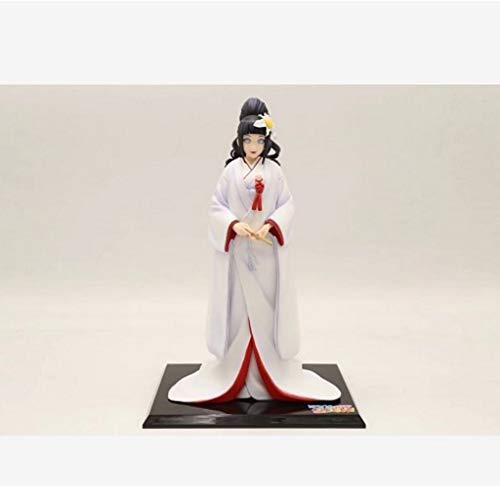 PY Naruto Action-Figur Hinata Hyuga Weiß Kimono Handmade Modell populäre Karikatur-Geschenk-Spielzeug-Dekorationen von Naruto Shippuden Peripherals Manga Puppe Ornamente