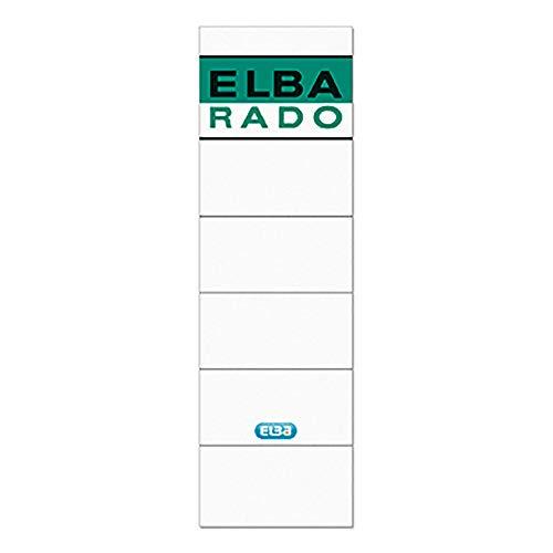 Elba Spine Label for Lever Arch Files 190 x 59 mm White-Green Verde, Color blanco 10pieza(s) - Etiqueta autoadhesiva (Verde, Color blanco, 59 mm, 190 mm, 10 pieza(s), 10 hojas)