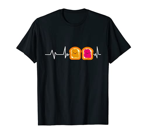 Peanut Butter Jelly Heartbeat Gift Peanut Butter And Jelly T-Shirt