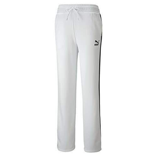Puma - Pantaloni da Jogging da Donna Classics Wide Leg Pants, Donna, Pantaloni da Jogging, 598854, Puma White, XS