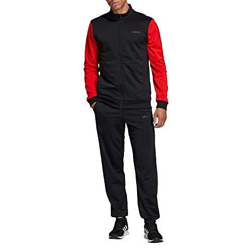 adidas Herren Mts Linear Tricot Trainingsanzug, Red, S, DV2453