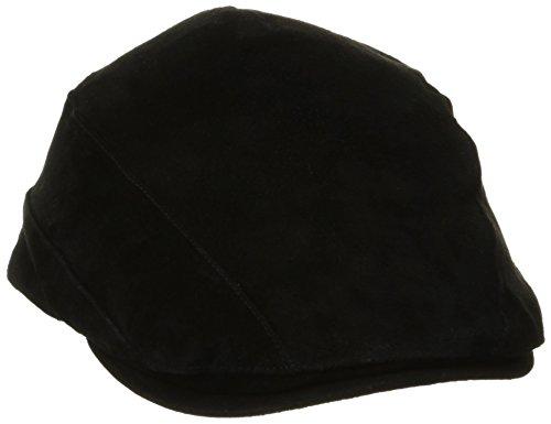 Stetson Men's Suede Ivy Cap, Black, X-Large -  STW46-BLK4