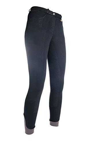 HKM Erwachsene Reithose-Kate-Silikon-Vollbesatz9100 schwarz40 Hose, 9100 schwarz, 40