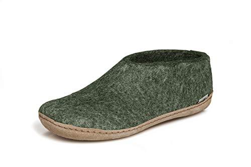 glerups dk A Shoes Unisex - Erwachsene Filz-Hausschuh, Damen,Herren Huettenschuhe, Maenner Frauen maennliche weibliche,Forest,43 EU / 9 UK