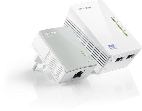 TP-Link TL-WPA4220-KIT AV500 WLAN Powerline Adapter Set (WLAN Verstärker (300 Mbit/s 2,4GHz, 500Mbit/s Powerline, 2x 10/100 MBit-LAN-Port, Wi-Fi Clone, Wi-Fi Move, MU-MIMO, 2-er Set) weiß