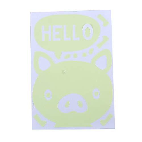 Ellepigy Pegatina decorativa para pared, diseño de Hello Pig