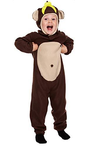 Fancy Me Jungen Mädchen Braun AFFE Dschungel Zoo Tier Büchertag Kostüm Kleid Outfit 3-9 Jahre - Braun, Braun, 7-9 Years