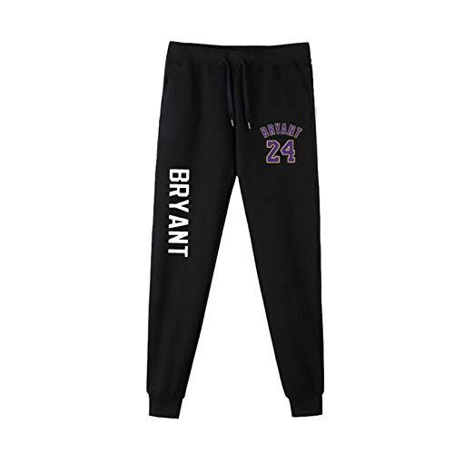PSZH Pantalones de Lakers de los Hombres, Bryant, James Pantalones de Baloncesto Slam Dunk Sweetpants Showtime Rendimiento Pantalones Deportivos de Ocio con Cintura elást Bryant 24#-XXXL