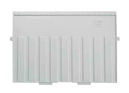 HAN 9024-11, Stützplatte DIN A4 quer, für HAN Karteitröge und Karteikästen, lichtgrau