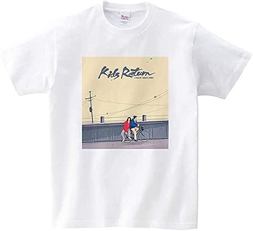 キッズ・リターン きたの たけし 映画 アメリカ Tシャツ メンズ/レディース Tシャツ/夏服 スポーツ Tシャツ トップス 半袖 無地 通気性 ファッション ゆったり 快適 (XXXXL)