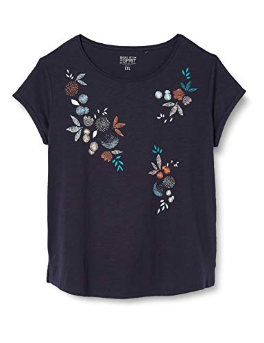 ESPRIT Damen 040EE1K396 T-Shirt, 400/NAVY, S