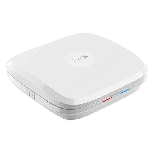 DAQIAO UV Sterilization Box, Wireless Charging,Sterilization Rate 99.9%, Uvc Disinfection Four-In-One Multifunctional Sterilization Box (Color : White)