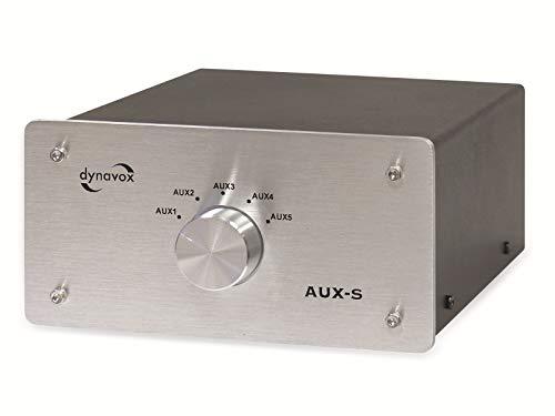 Sintron Dynavox AUX-S Commutateur sélecteur Audio -Argent Or