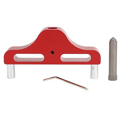 Fafeicy Center Scriber, Markierungs-Center-Finder-Werkzeug für die Holzbearbeitung aus Aluminiumlegierung, weniger als 95 mm Messbereich, 1 mm Messgenauigkeit(rot)