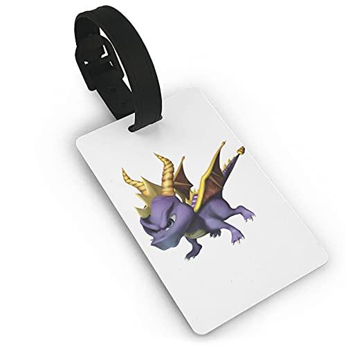 Spyro Etiquetas de equipaje de microfibra de cuero personalizado maleta Tag Set equipaje ID Etiquetas de viaje Accesorios