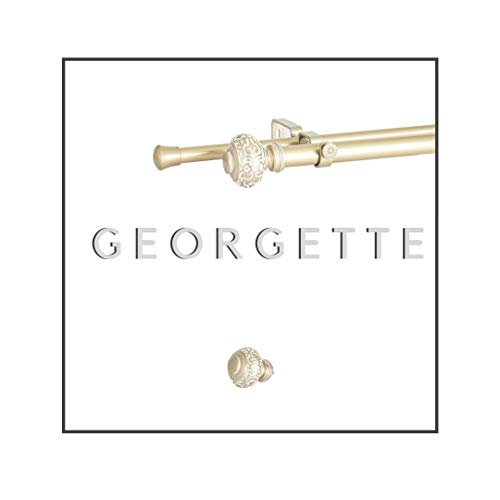 Maison Desyne Georgette 20 mm 25 mm barra doble para cortina (dorado,...