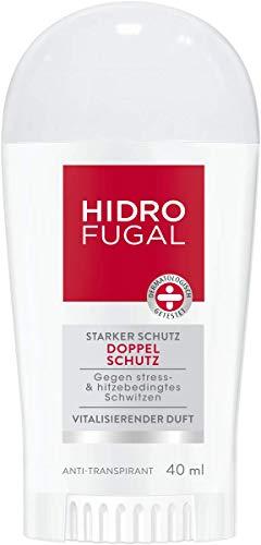 Hidrofugal Doppelschutz Deo Stift, Anti-Transpirant gegen stress- & hitzebedingtes Schwitzen, Deodorant mit vitalisierendem Duft und antibakteriellem Schutz