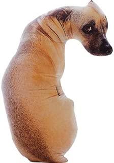 CUTESUN 3D Dog Shaped Throw Pillow 17 inch Soft Plush Toy Home Sofa Car Seat Decorative Pillow Pet Pillow