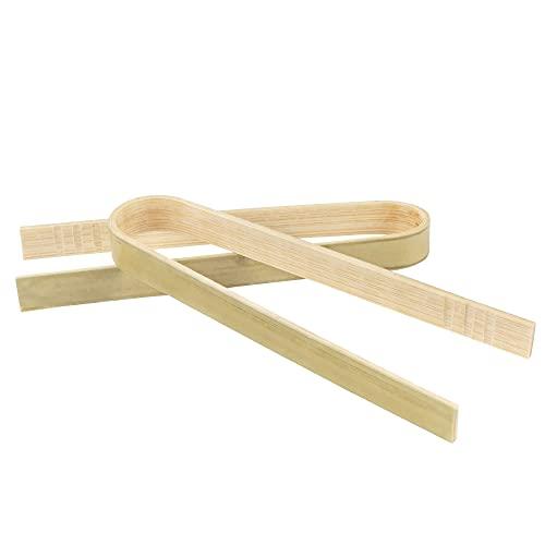 BambooMN 3.9 Mini Bamboo Disposable Tongs - Toast Tongs - 200pcs