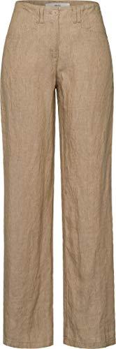 BRAX Damen Style Farina Leinenhose mit legerer Silhouette Hose, Beige (Toffee 54), 36K