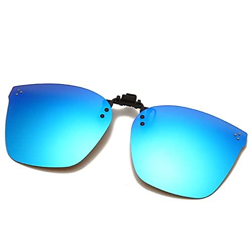 YAMEIZE Gafas de Sol Polarizadas con Clip Protección Antirreflejo UV400 Abatible para Hombres Mujeres Conducción Deportes al aire Libre
