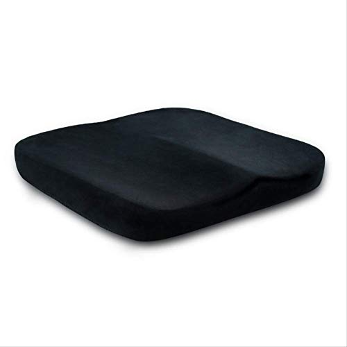 Wedge Car Seat Chair Lumbar Support Cushion Back Pain Height Booster For Office Pain Relief Elastic