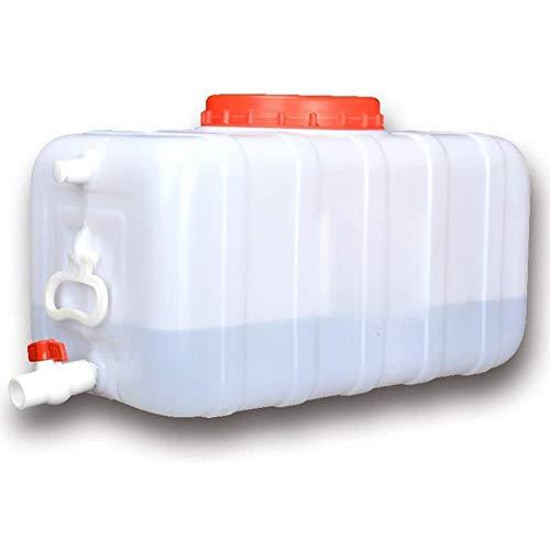 KONFA Recipientes de Agua Grandes, portátil con Engrosamiento Grifo depósito de Agua de plástico Cubo de Almacenamiento,Blanco,200L