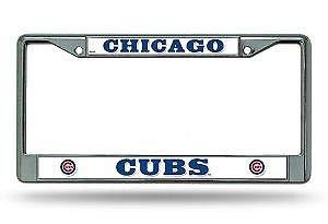 Bhartia Chicago Cubs Chrome License Plate Frame Metal Tag Holder 12' X 6'