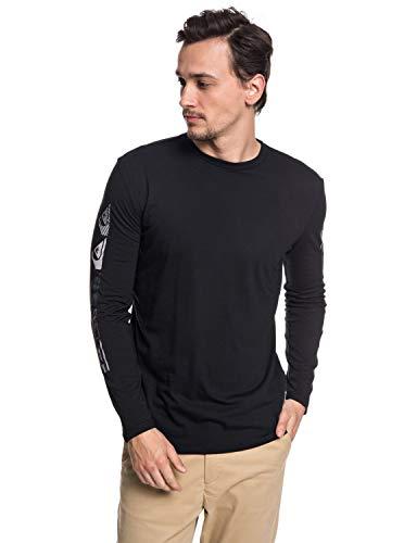 Quiksilver - Camiseta técnica de Manga Larga con UPF 30 - Hombre - XL - Negro