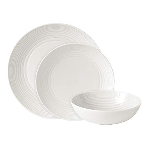 Royal Doulton, Set da tavola, 12 pz, Modello Maze, Bianco
