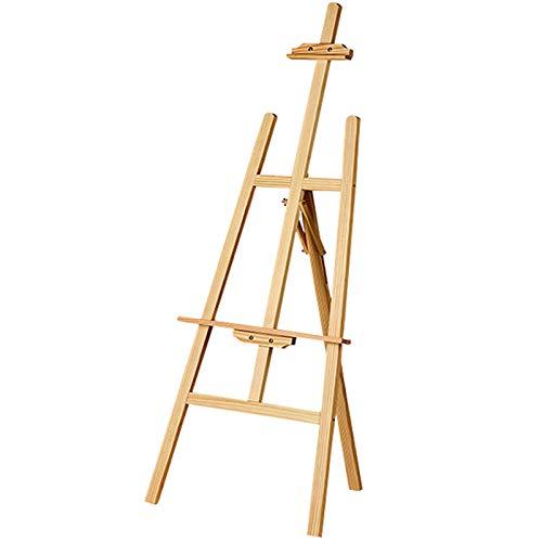 Yorking Staffelei Holz groß Kinder Atelierstaffelei Standstaffelei Dreifuss Stand 150 cm höhenverstellbar