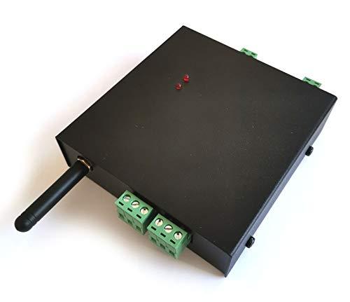 Danitech GSM Quadband Funk Modul/Steuerung per SMS mit 2X Relais Ausgängen NC/NO max. 230V und 10A