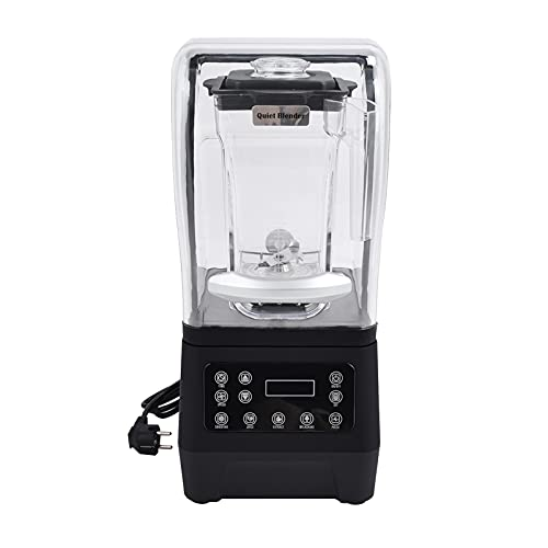 Licuadoras de encimera, trituradora de hielo inteligente de 1.6L, extractor de jugo de 1800 W con cubierta sellada, para bebidas congeladas, batidos, jugo(EU)