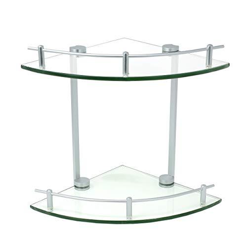 Perfectosan   Badezimmer Duschablage Eckregal   Modell Nerolia   Duschregal aus Aluminium, 100% rostfrei und passend für Jede Dusche   praktische Halterung für Ihr Bad   Dusch Ablage