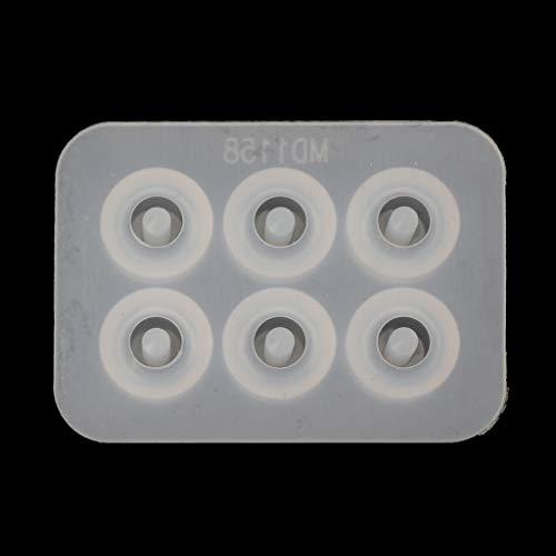 Bciou - Molde de silicona para pulseras de cuentas de resina para manualidades