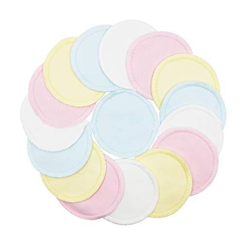 Ruiqas Démaquillant réutilisable de 16 paquets, tampons en coton normaux protecteurs lavables de démaquillant de visage pour le visage essuie avec le
